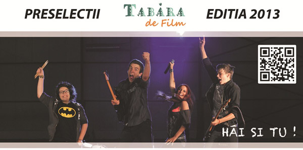PRESELECTIILE PENTRU  TABARA DE FILM, Pitesti – 20 aprilie,Craiova – 21 aprilie