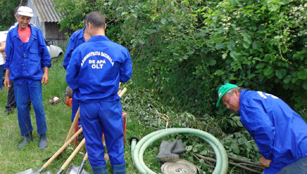 ABA Olt,exerciţiu de simulare pentru apărare împotriva inundațiilor