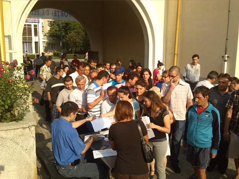 Nouă persoane încadrate pe loc la Bursa organizată de AJOFM