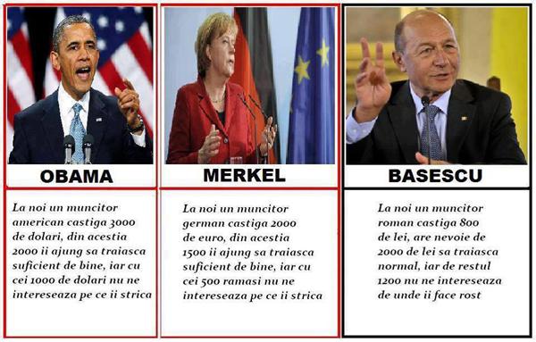Obama, Merkel şi Băsescu