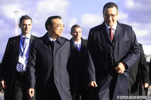 VIZITĂ ISTORICĂ: Ponta şi premierul chinez şi-au luat angajamente economice