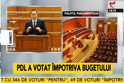 BREAKING NEWS: Bugetul pentru 2014, adoptat