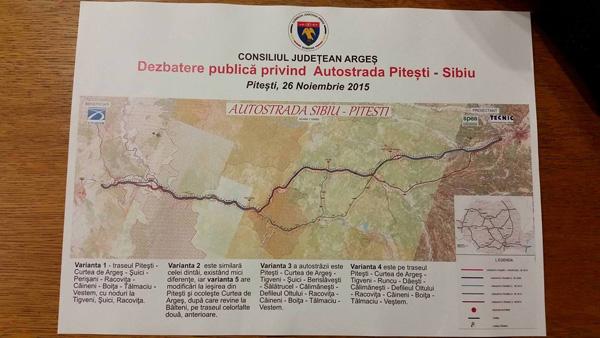 harta autostrada Pitesti-Sibiu