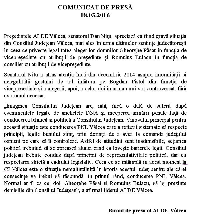 comunicat ALDE