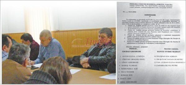 Pe 29 noiembrie, Consiliul Local al comunie Bujoreni va vota sau nu revocarea din funcţie a viceprimarului PSD, George Gîngu