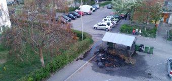 Cine a dat foc la ghena de gunoi?