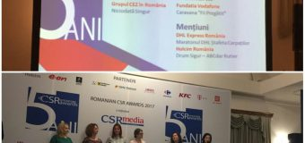 Grupul CEZ în România a fost premiat aseară pentru al doilea an consecutiv de juriul Galei Romanian CSR Awards