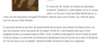Atac la familia primarului Gutău
