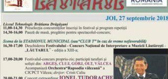 """Îndrăgiții și binecunoscuții cântăreți Ionel Tudorache și Nicolae Furdui Iancu – recitaluri de excepție la Festivalul """"LĂUTARUL"""" de la Drăgășani"""