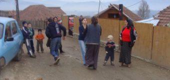 Romii din Bujoreni fac curățenie, iar prefectul Marin invită mass-media să-i promoveze