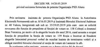 """PSD Alunu: """"la alegerile locale din 2016 a încercat să fraudeze alegerile""""…"""