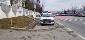 Polițiștii care au parcat necorespunzător sunt de la Poliția Transporturi Craiova…
