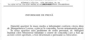 DSP – lămuriri pentru concediul directorului instituției, Mărgăritescu Lorena